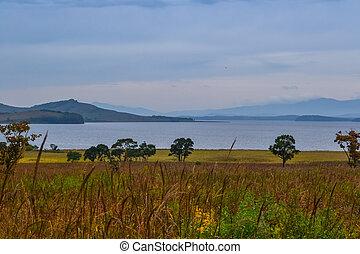 Landscape view of the Japanese sea. Russia, Primorsky Krai