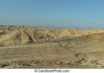 Landscape view on judean desert near the dead sea in Israel