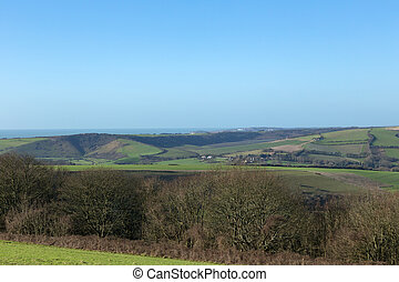 Landscape view over the South Downs, Sussex