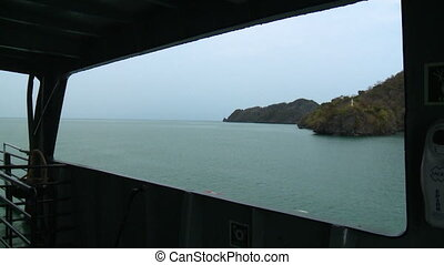 Landscape View | Passenger Ferry Window, Langkawi - Wide...