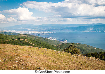 Landscape view to the Sea of Marmara and Derice in Turkey