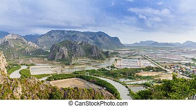 landscape viewpoint at Khao Daeng ,Sam Roi Yod national park,Prachuapkhirik han province Thailand