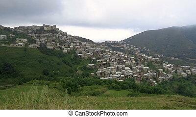 Landscape Village Architecture Caucasus Mountain