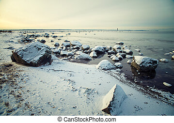 landscape winter sea