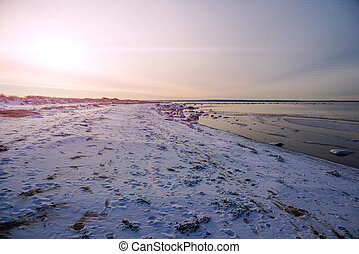 landscape winter sea