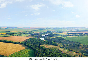 Landscape with a bird's eye view, panorama
