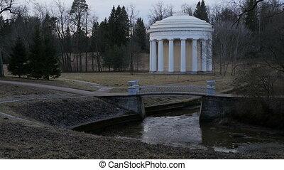 landscape with a classic white rotunda