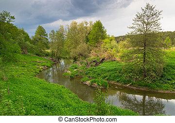 Landscape with a little river