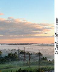 morning mist at dawn