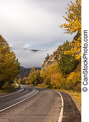 Landscape with a mountain road