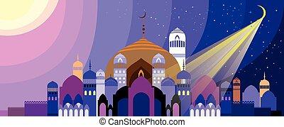 Landscape with Arabian city