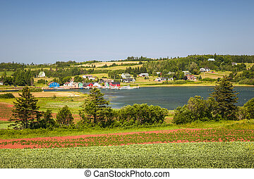 Landscape with bay in Prince Edward Island Canada -...