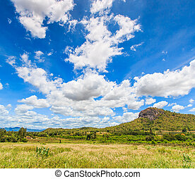 Landscape with beautiful clouds and mountain views
