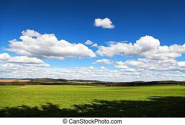 Landscape with beautiful clouds on sky