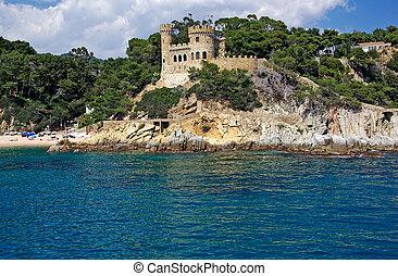 Landscape with castle form sea in Lloret de Mar, Costa Brava, Spain. More in my gallery.