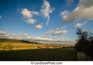 landscape with clouds on the sky
