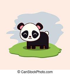 cute panda bear icon