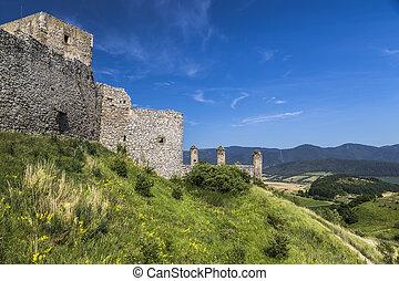 Landscape with fragment of medieval castle