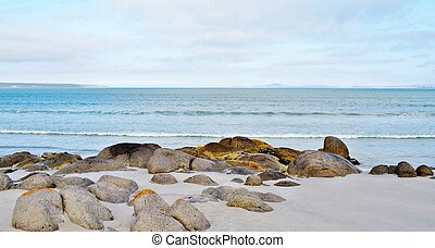 Landscape with Granite Boulders at Langebaan Lagune