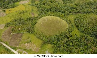 Landscape with green hills Bohol, Philippines - Geological...