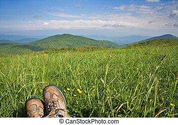 Landscape with Hiker