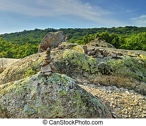 Landscape with interesting rock formations