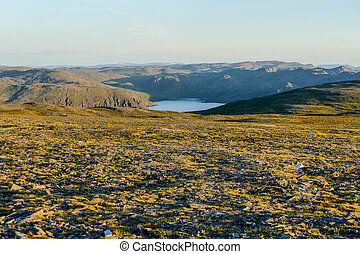 landscape with lake and mountains, in Norway Scandinavia North Europe
