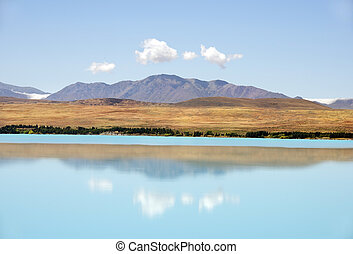 landscape with lake in the south of New Zealand