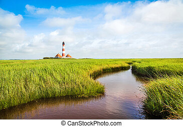 Landscape with lighthouse, Nordsee - Beautiful landscape ...
