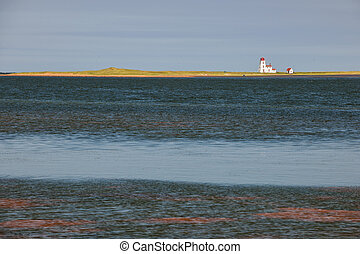Landscape with lighthouse on Prince Edward Island