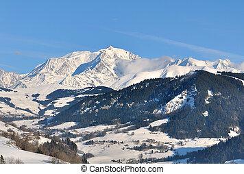 Landscape with Mont-Blanc