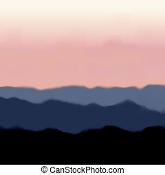 Landscape with Mountain and Sunrise