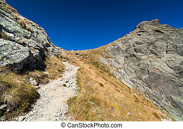 Landscape with mountain trail