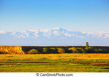 Landscape with mountains, Kazakhstan