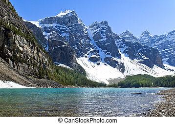 Lake Agnes, National Park, Banff Alberta, Canada - landscape...