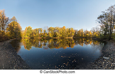 landscape with reflections