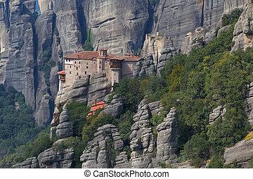 Rousanou Monastery in Meteora - landscape with Rousanou ...