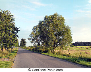 Landscape with rural road.