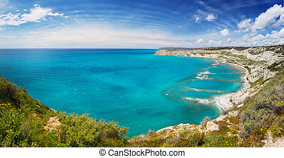 landscape with sea and blue sky, Cyprus