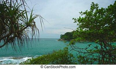 Landscape with sea coast. Thailand, Phuket Island