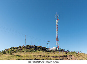 Landscape, with telecommunications towers, near Rhodes
