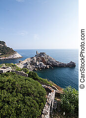 Landscape with the church of St. Peter in Porto Venere, Italy