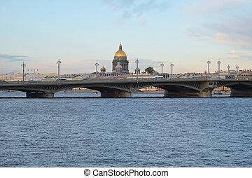 Neva River - Landscape with the image of Neva River in St. ...