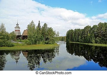 Landscape with the Old Church of Petajavesi, Finland