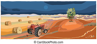 Landscape With Tractor