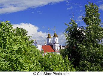 Landscape with Voskresensky church in Vitebsk