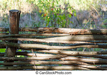 Landscape with wattle fence