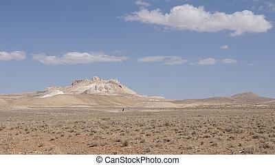 Landscape, Yazd, Iran, Asia - Landscape of Yazd Province,...