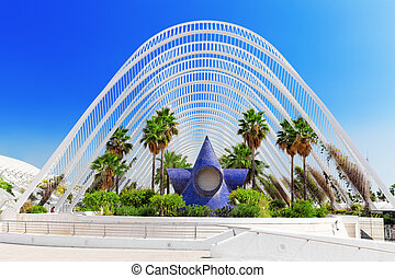 Landscaped walk tropic park (L'Umbracle) - City of Arts and ...