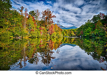 landscapes near lake jocassee and table rock mountain south...